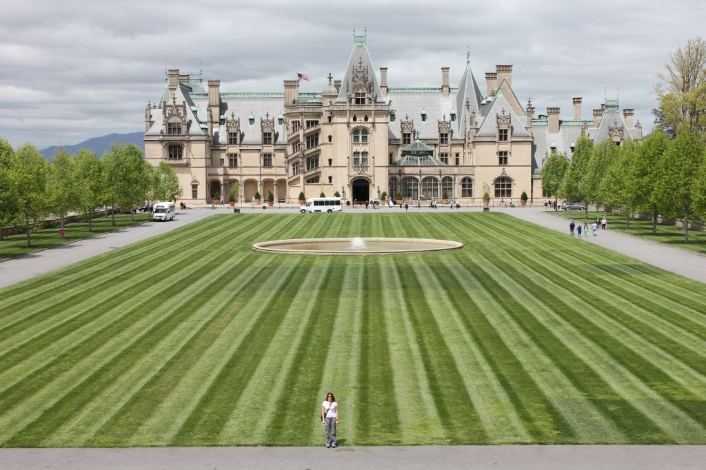 i'm standing in front of Biltmore Estate in Asheville, NC