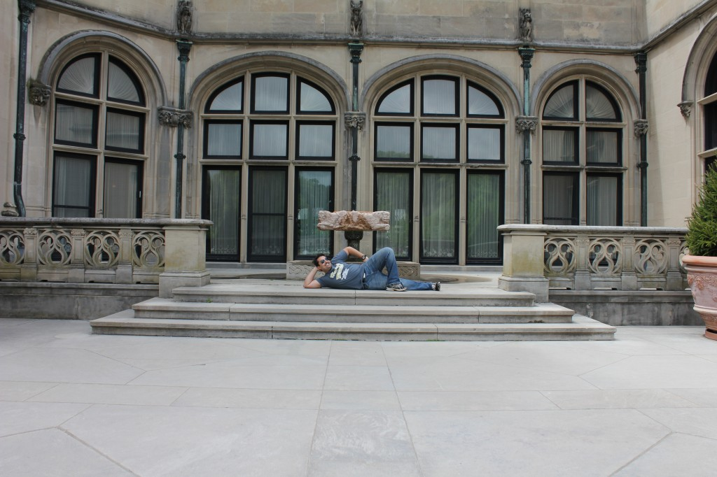 Relaxing at the Biltmore Estate in Asheville, NC