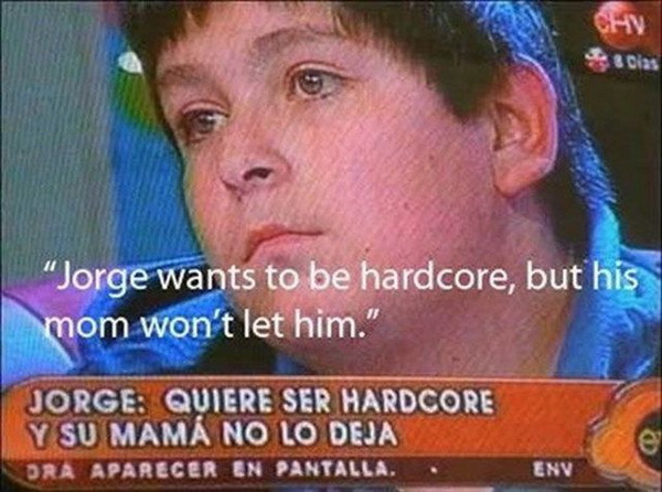 (taken from a Mexican Jerry Springer-type show)